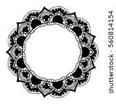 mandalas for coloring book.... | Shutterstock .eps vector #560814154