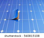 solar panel and schematic 3d... | Shutterstock . vector #560815108