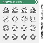 set of thin line recycle icons. ... | Shutterstock .eps vector #560818498