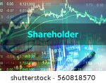Small photo of Shareholder - Abstract hand writing word to represent the meaning of financial word as concept. The word Shareholder is a part of Investment and Wealth management vocabulary in stock photo.
