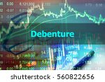 Small photo of Debenture - Abstract hand writing word to represent the meaning of financial word as concept. The word Debenture is a part of Investment and Wealth management vocabulary in stock photo.