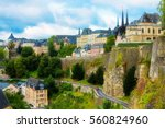 View from the Casemates on old Luxembourg City