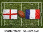 england vs. france flags on... | Shutterstock . vector #560826460