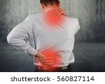 business man suffering from... | Shutterstock . vector #560827114