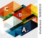 transparent overlapping... | Shutterstock .eps vector #560828110