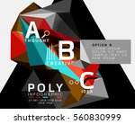 colorful triangles with a b c... | Shutterstock .eps vector #560830999