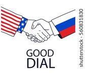 handshake friendship...   Shutterstock .eps vector #560831830