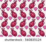 vector on a pink background.... | Shutterstock .eps vector #560835124