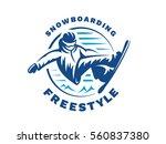 snowboarding freestyle logo  ... | Shutterstock .eps vector #560837380