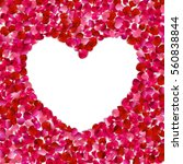 Stock photo heart shape of red petals on white background valentine s day with beautiful rose petals love 560838844