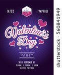 valentines day party poster....   Shutterstock .eps vector #560841949