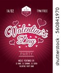 valentines day party poster.... | Shutterstock .eps vector #560841970