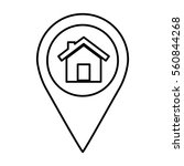 pin pointer location icon... | Shutterstock .eps vector #560844268
