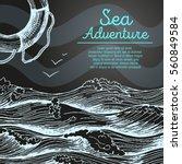 Sea Design Template. Nautical...