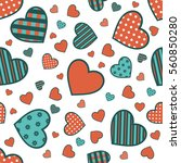seamless valentine pattern with ... | Shutterstock .eps vector #560850280