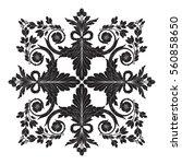 vintage baroque ornament retro... | Shutterstock .eps vector #560858650