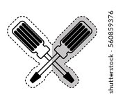 screwdriver tool isolated icon...