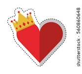 king crown isolated icon vector ... | Shutterstock .eps vector #560860648
