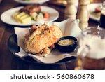 bistro good food cafe serving... | Shutterstock . vector #560860678