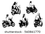illustration of people riding... | Shutterstock .eps vector #560861770