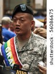 NEW YORK - JUNE 27: Grand Marshal Lieutenant Dan Choi attends press conference at the 2010 New York City Gay Pride March on the streets of Manhattan on June 27, 2010 in New York City. - stock photo