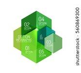 infographic modern templates  ... | Shutterstock .eps vector #560869300