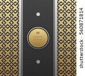 vertical banner template on... | Shutterstock .eps vector #560871814