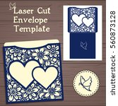 lasercut vector wedding... | Shutterstock .eps vector #560873128