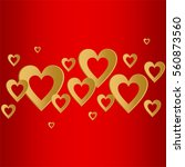 valentines red background with... | Shutterstock .eps vector #560873560