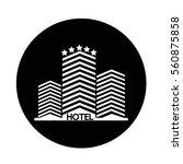 hotel icon | Shutterstock .eps vector #560875858