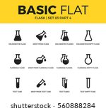 basic set of drop flask  test... | Shutterstock .eps vector #560888284