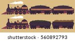 retro steam locomotive vector.... | Shutterstock .eps vector #560892793