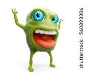 Cartoon 3d Slime Monster Scare...