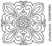 hand drawing pattern for tile... | Shutterstock .eps vector #560894884