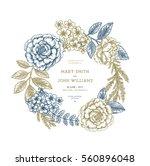 floral wedding invitation.... | Shutterstock .eps vector #560896048
