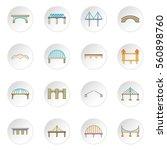Bridge Construction Icons Set....