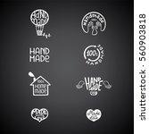 set of vintage handmade badges  ... | Shutterstock .eps vector #560903818