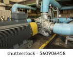 several water pumps with large... | Shutterstock . vector #560906458