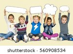 children smiling happiness... | Shutterstock . vector #560908534
