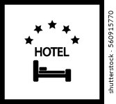 hotel vector icon. | Shutterstock .eps vector #560915770