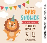 cute lion illustration for baby ... | Shutterstock .eps vector #560923516