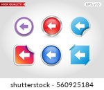 colored icon or button of left...