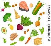 health food 100  organic... | Shutterstock .eps vector #560929819