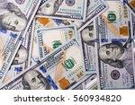 american 100 dollar  banknotes... | Shutterstock . vector #560934820