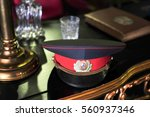the vintage retro hat and dress of general soldier military after war