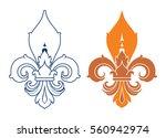 fleur de lis symbol  silhouette ...   Shutterstock .eps vector #560942974