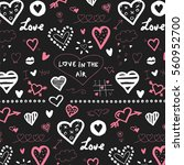 doodle hearts  valentine's day... | Shutterstock .eps vector #560952700