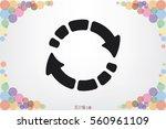 rotation arrows icon vector... | Shutterstock .eps vector #560961109