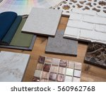 samples of material  wood  ... | Shutterstock . vector #560962768