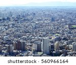 high rise buildings and blue... | Shutterstock . vector #560966164